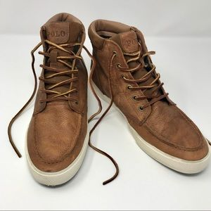 Polo Ralph Lauren Tedd Leather High Top Sneakers